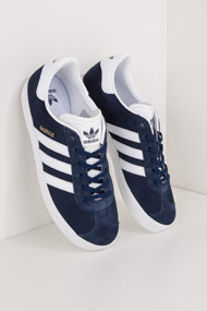 adidas Originals - Gazelle Sneaker low - Navy Blue + White
