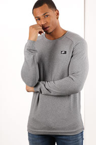 Nike - Sweatshirt - Heather Grey + Black