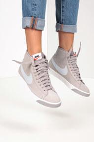 Nike - Blazer sneakers montantes - Light Grey + White