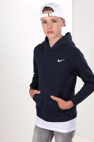 Nike - Kapuzensweatshirt - Navy Blue + White