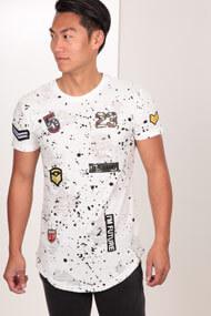 John H - T-Shirt - White + Black