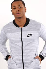Nike - Veste de jogging - Heather Light Grey + Black