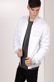 Jordan - Bomberjacke - White + Light Grey