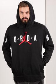 Jordan - Kapuzensweatshirt - Black + White + Red