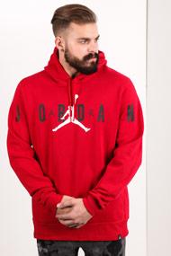 Jordan - Kapuzensweatshirt - Red + Black + White