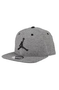 Jordan - Snapback Cap - Heather Grey + Black