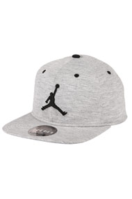 Jordan - Snapback Cap - Heather Light Grey + Black