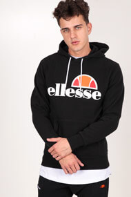 Ellesse - Kapuzensweatshirt - Black + White + Orange
