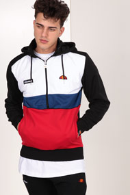 Ellesse - Kapuzensweatshirt - Black + White + Red + Blue