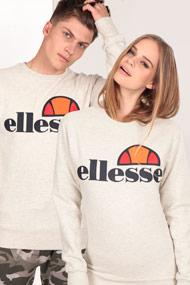 Ellesse - Sweatshirt - Heather Offwhite + Navy Blue