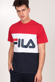 Fila - T-Shirt - Red + Navy Blue + White