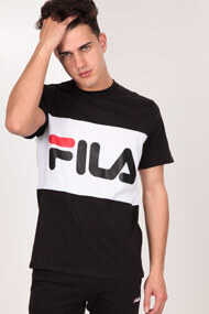 Fila - T-Shirt - Black + White + Red