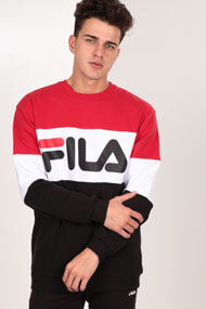 Fila - Sweatshirt - Red + Black + White