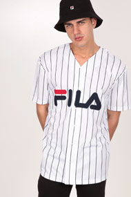 Fila - Chemise de baseball - White + Navy Blue + Red