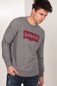 Levi's - Sweatshirt - Heather Grey + Red