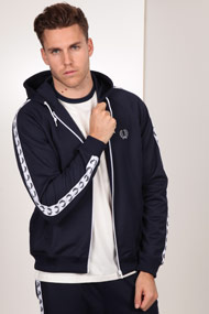 Fred Perry - Kapuzensweatjacke - Navy Blue + White