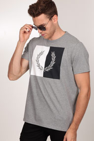 Fred Perry - T-Shirt - Heather Grey
