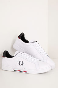 Fred Perry - Sneaker low - White + Black