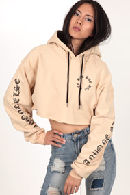 Bae - Sweatshirt court - Beige + Black