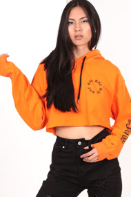 Bae - Sweatshirt court - Orange + Black