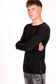 BlackSalt - Pull en tricot fin - Black