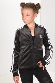 adidas Originals - Samt Trainingsjacke - Anthracite + White