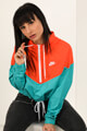 Nike - Windbreaker - Orange + Green