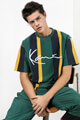 Karl Kani - T-Shirt - Green + Mustard + Navy