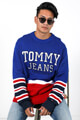 Tommy Jeans - Strickpullover - Blue + Red