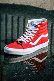 Vans - SK8 sneakers montantes - Red + Yellow + Blue