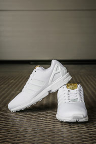 adidas Originals - ZX Flux Laufschuhe - White + Gold