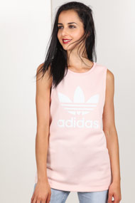 adidas Originals - Oversize Tanktop - Rose + White