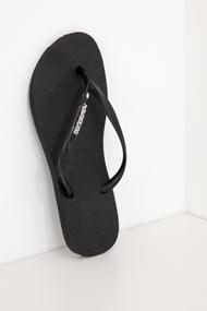 Havaianas - Flip Flops - Black + Silver