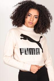 Puma - Sweatshirt court - Heather Beige + Black