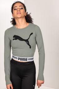 Puma - Shirt court - Olive Green + Black + White