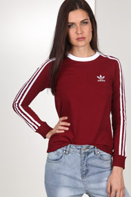 adidas Originals - Shirt manches longues - Bordeaux + White