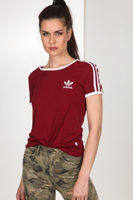 adidas Originals - T-Shirt - Bordeaux + White
