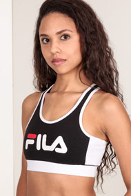 Fila - Bralette - Black + White + Red
