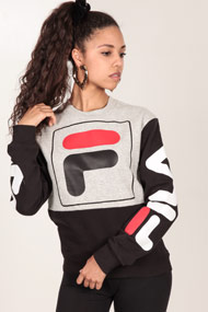 Fila - Sweatshirt - Black + Grey + Red