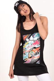 adidas Originals - Long Tanktop - Black + Multicolor