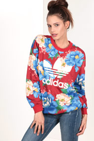 adidas Originals - Sweatshirt - Red + Multicolor