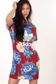 adidas Originals - Robe - Red + Multicolor