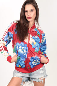 adidas Originals - Veste de jogging - Red + Multicolor