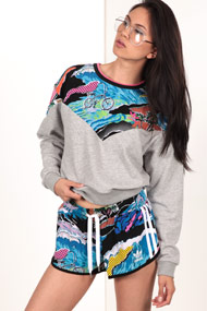 adidas Originals - Sweatshirt - Heather Grey + Multicolor