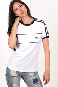 adidas Originals - T-Shirt - White + Navy Blue