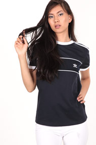 adidas Originals - T-Shirt - Dark Navy Blue + White