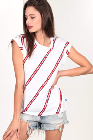 adidas Originals - T-Shirt - White + Red