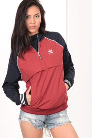 adidas Originals - Veste coupe-vent - Rust + Navy Blue