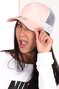New Era - Trucker / Snapback Cap - Rose + White