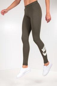 Nike - Leggings - Olive Green + White
